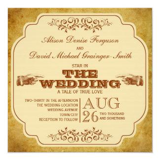 Producción del teatro del boda del vintage invitación 13,3 cm x 13,3cm
