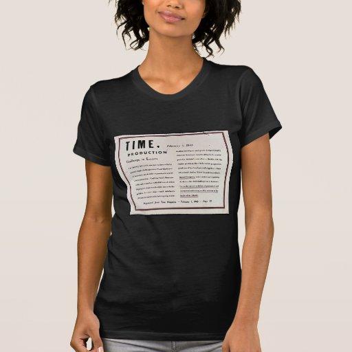 Producción del tiempo, Challege en acompañamientos Camiseta