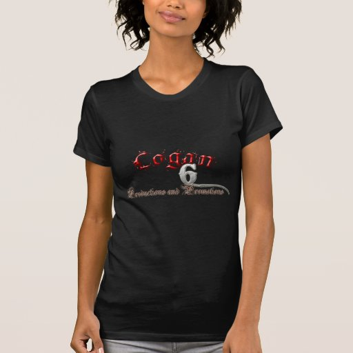 Producciones Logan-6 y engranaje de las promocione Camisetas