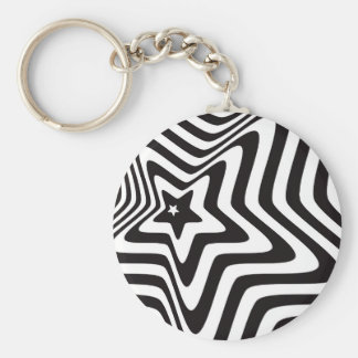 producto con vector blanco y negro de la ilusión llavero redondo tipo chapa