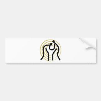Producto del judo pegatina de parachoque