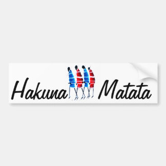 Producto del personalizar de Maasai Worriors Hakun Pegatina Para Coche
