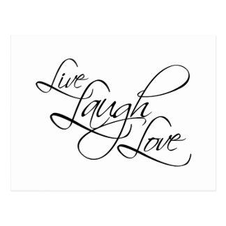 Producto vivo del personalizar del amor de la risa postal