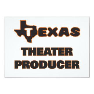 Productor del teatro de Tejas Invitación 12,7 X 17,8 Cm