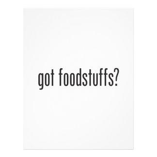 productos alimenticios conseguidos folleto 21,6 x 28 cm