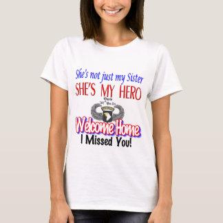 Productos caseros agradables de la hermana camiseta