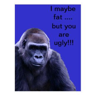 productos chistosos del gorila postal