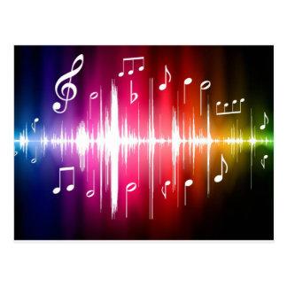 Productos coloridos de la música postal