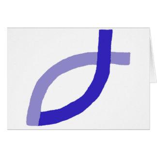 Productos cristianos - azul tarjeta de felicitación