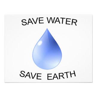 ¡Productos de la protección de agua Invitaciones Personalizada