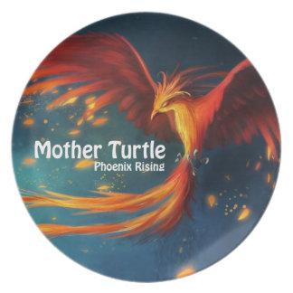 Productos de la tortuga de la madre plato de comida