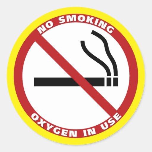 Productos de no fumadores pegatinas redondas