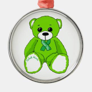 Productos del oso de peluche de la conciencia de adorno navideño redondo de metal
