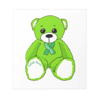 Productos del oso de peluche de la conciencia de bloc de notas