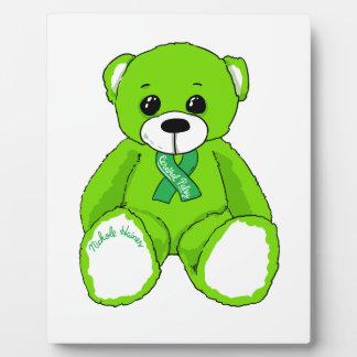 Productos del oso de peluche de la conciencia de placa expositora