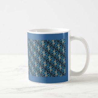 Productos múltiples amarillos azules taza básica blanca