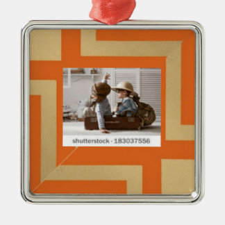 Productos múltiples en combinado bicolor adorno navideño cuadrado de metal