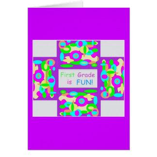 Productos para el primer grado tarjeta de felicitación