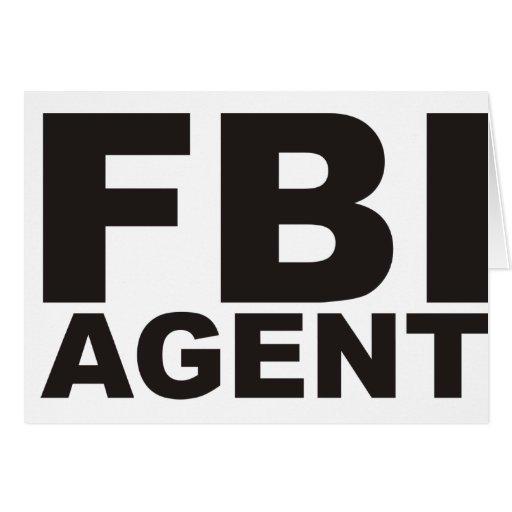 ¡Productos y diseños del FBI! Felicitación