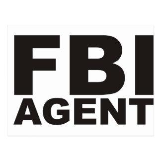 ¡Productos y diseños del FBI! Postal