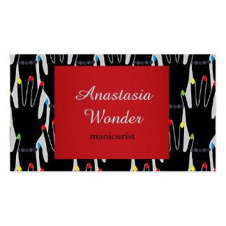 Profesión elegante abstracta del manicuro del tarjetas de visita