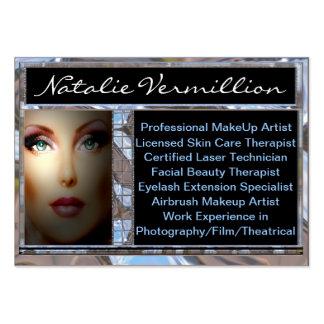 Profesional bermellón del artista de maquillaje tarjetas de visita grandes