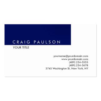 Profesional blanco azul llano exclusivo tarjetas de visita
