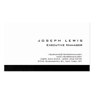 Profesional blanco de la raya gris simple llana tarjetas de visita