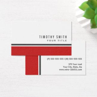 Profesional blanco elegante moderno de la frontera tarjeta de negocios