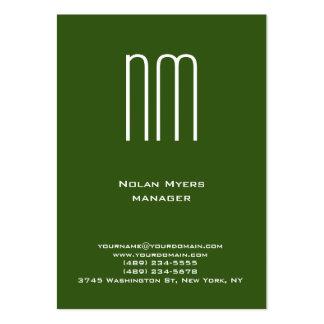 Profesional blanco verde único moderno del tarjetas de visita grandes