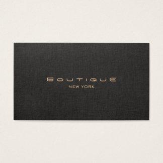 Profesional de lino negro moderno elegante tarjeta de negocios