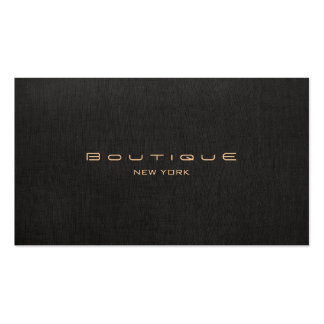 Profesional de lino negro moderno elegante tarjetas de visita