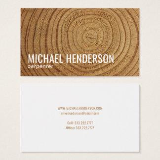 Profesional de madera rústico moderno de la tarjeta de visita