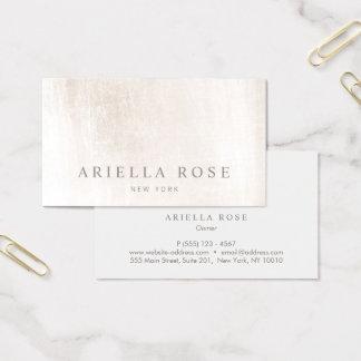 Profesional de mármol blanco cepillado elegante tarjeta de visita