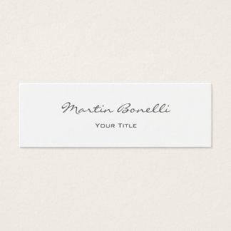 Profesional de moda simple de la escritura tarjeta de visita pequeña