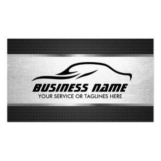 Profesional de plata fresco automotriz de la tarjetas de visita