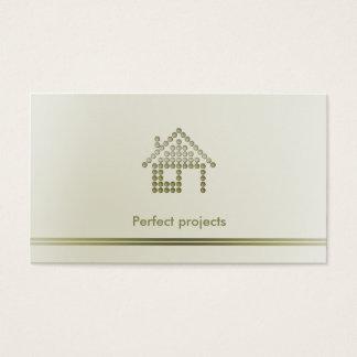 Profesional del arquitecto el   tarjeta de negocios