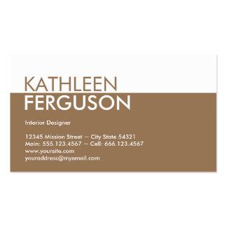 Profesional del marrón del bloque del color de tarjetas de visita