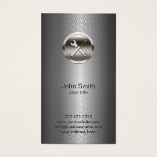Profesional del metal del logotipo de la tarjeta de visita
