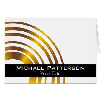 Profesional ejecutivo moderno de los círculos tarjeta de felicitación