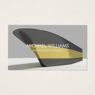 Profesional Elegante barco negro dorado Tarjeta De Negocios
