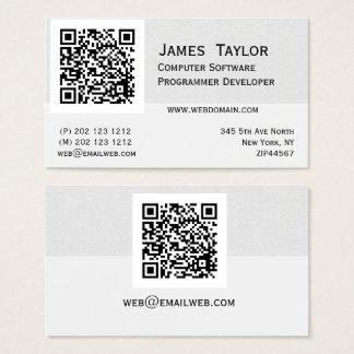 Profesional elegante formal del informático el | tarjeta de negocios