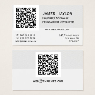 Profesional elegante formal del informático el | tarjeta de visita