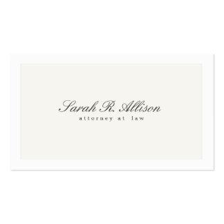 Profesional elegante simple del abogado tarjetas de visita