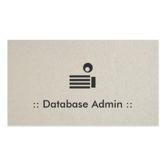 Profesional elegante simple del Admin de la base Tarjetas De Visita