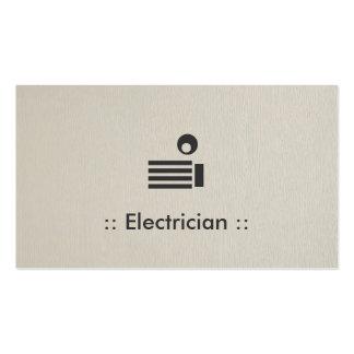 Profesional elegante simple del electricista plantilla de tarjeta de visita