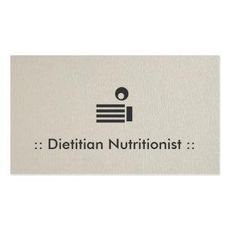 Profesional elegante simple del nutricionista el tarjetas de visita