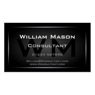 Profesional enmarcado negro con clase del tarjetas de visita