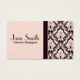 Profesional floral del damasco con clase elegante tarjeta de negocios