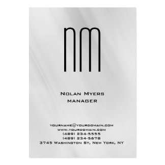 Profesional gris único moderno del monograma tarjetas de visita grandes